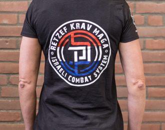 T- shirt dames RetZef flag logo zwart