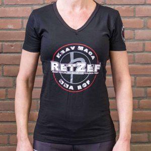 T- shirt dames RetZef zwart